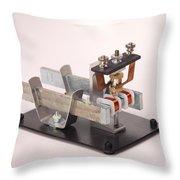 Electric Motor Throw Pillow