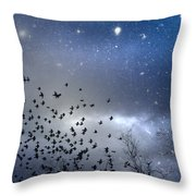 The Night Was Electrically Charged Throw Pillow