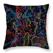 Electric Shy Girl Throw Pillow