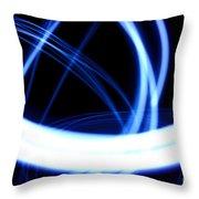 Electric Swirl Throw Pillow