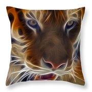 Electric Tiger Throw Pillow