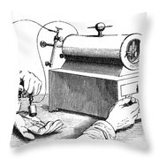 Electrical Device, 1876 Throw Pillow