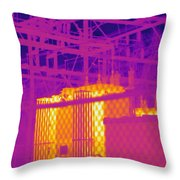 Electrical Substation Throw Pillow