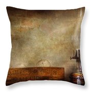 Electrician - Advancements In Lighting  Throw Pillow by Mike Savad