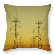 Electricity Pylons Throw Pillow