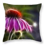 Electrified Coneflower Throw Pillow