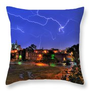 Electrifying Canvases Of Nature Throw Pillow