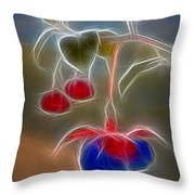 Electrifying Fuchsia Throw Pillow