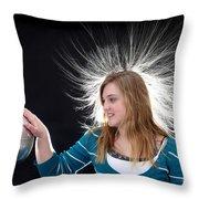 Electrostatic Generator, 4 Of 8 Throw Pillow
