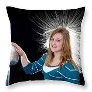 Electrostatic Generator, 7 Of 8 Throw Pillow