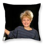 Electrostatic Generator Throw Pillow