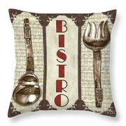 Elegant Bistro 1 Throw Pillow