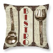 Elegant Bistro 1 Throw Pillow