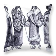 Elegant Coats Throw Pillow