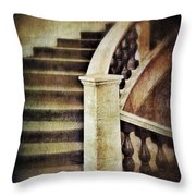 Elegant Staircase Throw Pillow