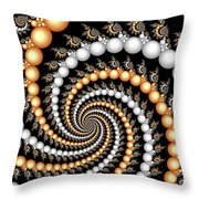 Elegant Swirls Throw Pillow