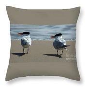 Elegant Tern Throw Pillow