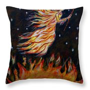 Elemental Earth Angel Of Fire Throw Pillow