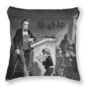 Elementary School, C1840 Throw Pillow