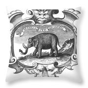 Elephant, 17th Cent Throw Pillow