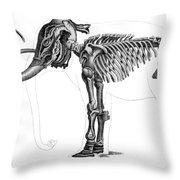 Elephas, Extant Cenozoic Mammal Throw Pillow