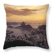 Elevated View Of Rio De Janeiro Throw Pillow