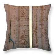 Elevators Blue And White Throw Pillow