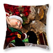 Elf On Shelf Throw Pillow