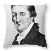Elias Hasket Derby (1739-1799). American Merchant And Shipowner. Steel Engraving, 19th Century Throw Pillow