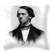 Elias Loomis, American Mathematician Throw Pillow by Science Source