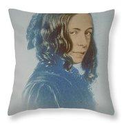 Elizabeth Barrett Browning, English Poet Throw Pillow