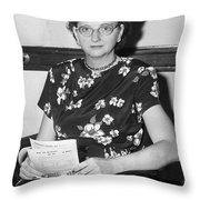 Elizabeth Bentley (1908-1963) Throw Pillow