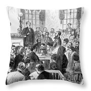 Elizabeth Wharton Trial Throw Pillow