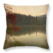 Elk Creek Reservoir Throw Pillow