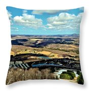 Elk Mountain Ski Resort Throw Pillow