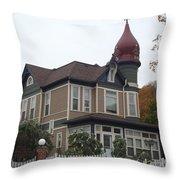 Elkader Castle Throw Pillow
