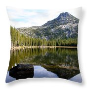 Elkhorn Mountain Reflection Throw Pillow