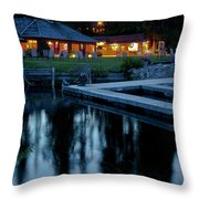 Elkins At Night Throw Pillow