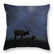 Elks Love Throw Pillow