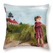 Ella At East Point Light Throw Pillow