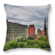 Ellicott Square Building     St. Joseph Cathedral     Prudential Guaranty Building Throw Pillow