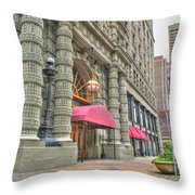 Ellicott Square Building And Hsbc Throw Pillow
