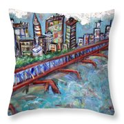 Ellis And Wall Street Throw Pillow