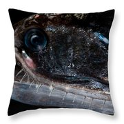 Elongated Loosejaw Throw Pillow