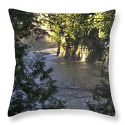 Elora Gorge Conservation Area Throw Pillow