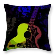 Elvis Gibson J200 Guitar Throw Pillow