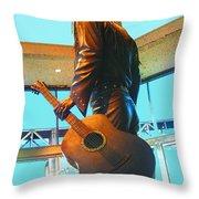 Elvis In Bronze At Memphis Throw Pillow