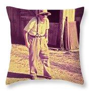 Elwood - Farmer Throw Pillow