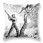Emancipation Cartoon, 1862 Throw Pillow