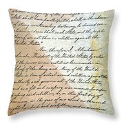 Emancipation Proc., P. 2 Throw Pillow by Granger